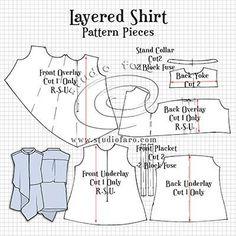 Layered Shirt Pattern Making Pdf Sewing Patterns, Vintage Patterns, Clothing Patterns, Dress Patterns, Pattern Cutting, Pattern Making, Sew Your Own Clothes, Suit Pattern, Pants Pattern
