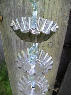 Chaîne de pluie d'étain tarte brillant par SparkleUpcycledGoods