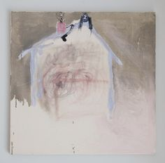 Janne Räisänen, Heavy Metal Fan on the Roof, Graphite, ink and oil on canvas, 2013