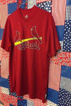 474984e8f0c1 RARE  80 s St. Louis Cardinals Jersey Vintage Majestic Baseball Jersey  MEDIUM Coach Jersey Hacker Cool Base Retro Red