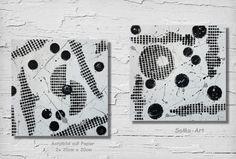 SoMa-Art  Acrylbilder  Wanddeko Direkt vom Künstler, Acryl auf Papier Duo