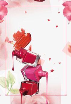 Moda flor padrão de beleza., Cartaz De Moda, Nail Polish Poster, Beleza Maquiagem Poster PNG e PSD