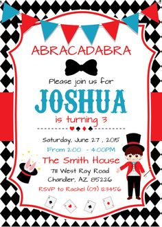 Magic Birthday Party Invitation Part 2 Learning Pinterest