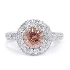 1.72 Karat Pink Diamantring 585er Weißgold
