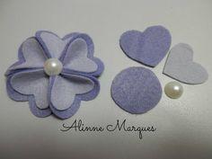 Image result for molde de petala de rosa para feltro