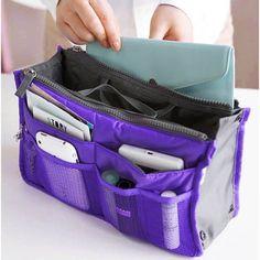 New Women Travel Insert Handbag Organiser Purse Large Liner Organizer Tidy Bag Pouch