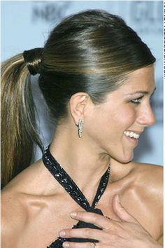 sleek pony tail, Jennifer Aniston