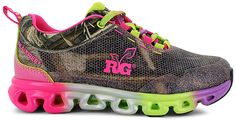 Bright and colorful meets camo in these fun athletics. #sneakers #schooldays