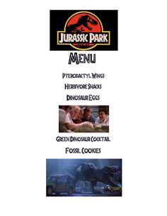 Movie Night For Kids, Dinner And A Movie, Family Movie Night, Family Movies, Dinner Themes, Dinner Menu, Movie Themes, Movie Ideas, Jurrassic Park