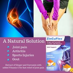 ZinCuFlex combines highly bioavailable Ginger and Curcumin, the active form of Turmeric with vitamin C to provide excellent relief for joint discomfort. Top Supplements, Curcumin Supplement, Gout, Natural Solutions, Vitamin C, Arthritis, Unique, Sports, Hs Sports