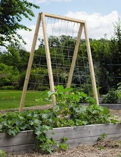 I want to make two of these for my garden.  Using eye hooks or fence staples to run the twine through.  Hinges at the top for winter storage
