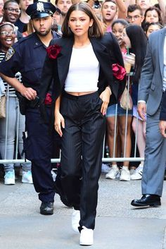 Celebrities wearing trouser suits; Women in suits | Glamour UK