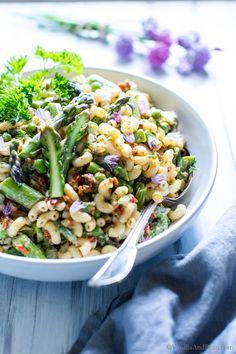 Dijon Asparagus and Pea Macaroni Salad