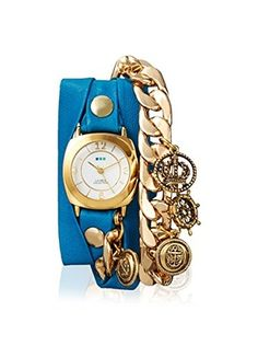 86c8bed7690 La Mer Collections Women s LMCW7804 Nautical Charm Grecian Blue Leather  Watch