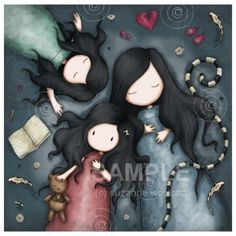 Items similar to The Calm After The Storm 8 x 8 Giclee Fine Art Print - Gorjuss Art on Etsy Illustrations, Illustration Art, Mother Daughter Art, Calm After The Storm, Santoro London, Art Mignon, Wallpaper S, Pretty Pictures, Cute Art