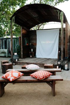 cozy outdoor theater