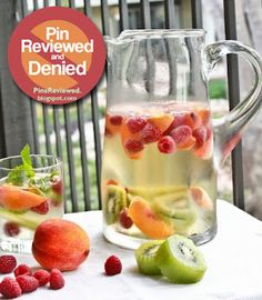This Pin was sadly denied by pinsreviewed.blogspot.com. It was a good drink, but not sweet enough to be considered Sangria... Check it out here!