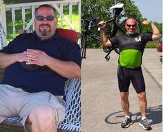 """""""Dad passed away on his 56th birthday from complications of diabetes and heart disease and I did not want that for my wife. My amazing wife is my WHY that makes me CRY!"""" That motivation has lead to incredible results! Congratulations, Dave! #FitnessFriday"""