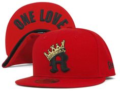R-Crown One Love Undervisor Scarlet 59Fifty Fitted Baseball Cap by NEW ERA