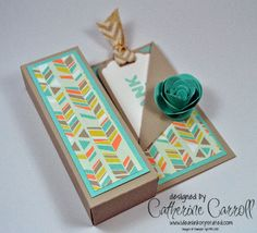Candle gift box using Sweet Sorbet DSP by Independent Stampin' Up! demonstrator Catherine Carroll