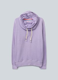 a947f040c8f59 TNA Clifton Sweater—a feminine, drapey spin on the hoodie in soft,  loose-knit terry