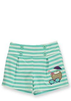 Hartstrings  Striped Summer Shorts Toddler Girls