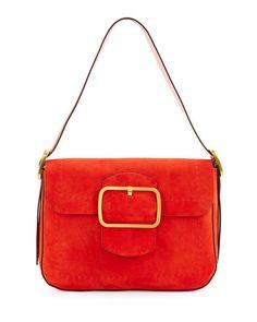 a4e389a557ce Tory Burch Sawyer Suede Shoulder Bag