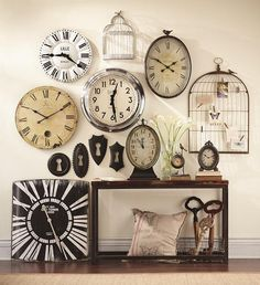 Vintage Clocks Decor 3 Not Crazy About The Bird Cages Though