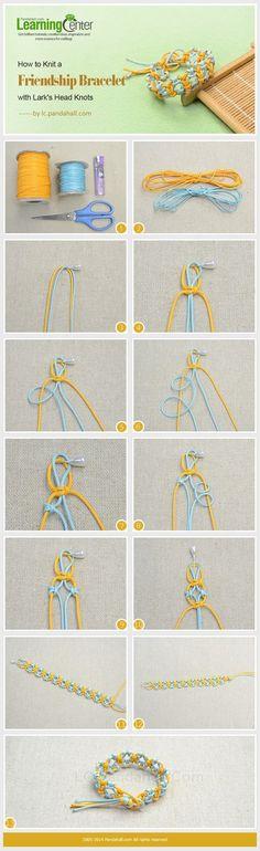 how-to-knit-a-friendship-bracelet-w.jpg (564×1842)