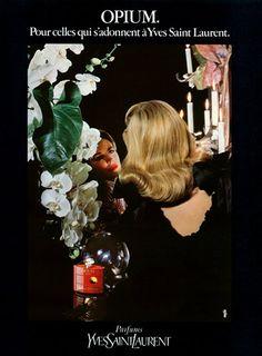 Details about 1984 YSL Opium perfume Mirror vintage magazine ad Vintage Ysl, Vintage Perfume, Parfum Yves Saint Laurent, Saint Yves, Perfume Adverts, Ysl Beauty, Perfume Bottles, Dogue De Bordeaux, Sketches