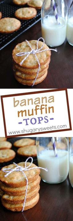 These BANANA MUFFIN TOPS are the best! Plus, who doesn't love the top of the muffin for breakfast?