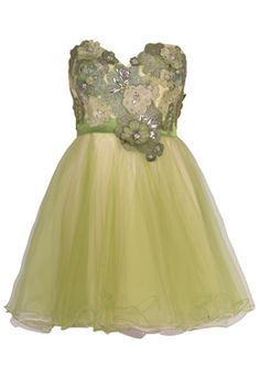 omg i love it either different color green or many different colors for each bridesmaid?