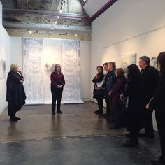 Therese Kenyon is speaking about her exhibition 'The Water Rushed In...' If you missed her artist talk today, you can still join us next Saturday at 3pm for her next talk.