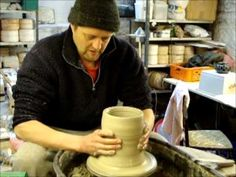 Centering,heel lift , knuckle lifting and pulling techniques on a larger clay pot