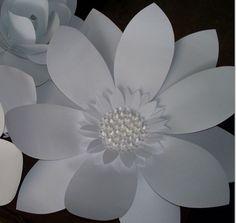 White Paper FlowerWedding BackdropLarge Paper by SplendidPetals