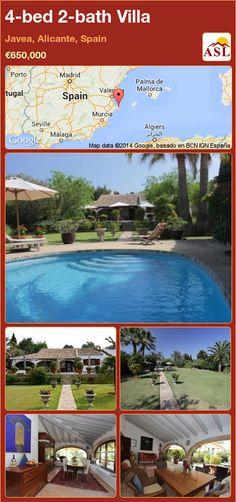 4-bed 2-bath Villa in Javea, Alicante, Spain ►€650,000 #PropertyForSaleInSpain