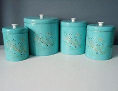 Blue Kitchen Canister Sets