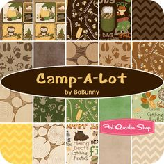 Love the tree trunks and the animal tracks - Camp A Lot Yardage BoBunny for Riley Blake Designs