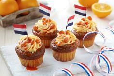 Holandské oranžové cupcakes
