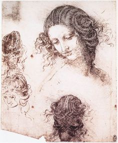 Head of Leda by Leonardo da Vinci #art
