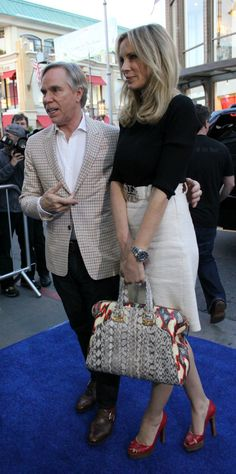 Tommy Hilfiger and his wife Dee Ocleppo , they got married in 2006 - still married. But before Dee, Tommy married his first love Susie Carona. they got divorced in 2000. After their divorce his company went to bankruptcy