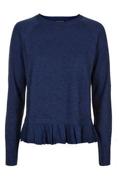 Topshop Ruffle Hem Sweater | Nordstrom