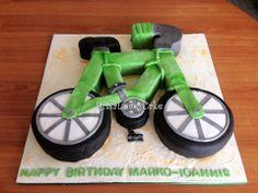 Bicycle cake Bicycle Cake, Car Cakes, Transportation, Guys