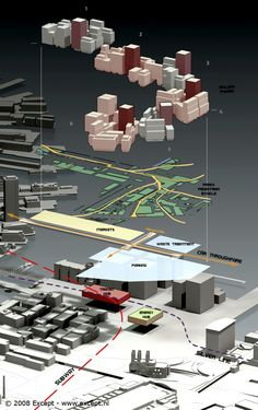 Diagrammatic vertical relationships | Boston Fort Point Masterplan