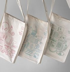 Simple vector lines and shapes: beach bags.