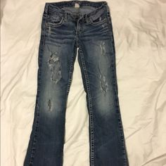 Silver 'Aiko' Jeans Aiko Bootcut Jeans W:26 L:33  Well loved but still great jeans. Offers are welcome! Silver Jeans Jeans Boot Cut