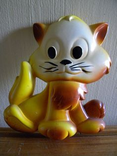 Cute Miller Studios Chalkware Cat 1980s by AtomicKittenVintage