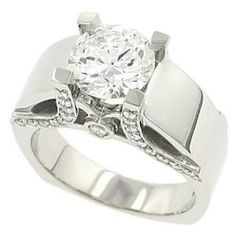 engagement ring, thick band