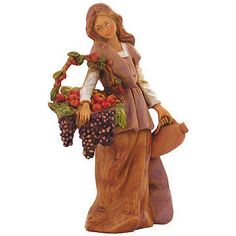 "Bethany+  5""+Fontanini®+Centennial+Collection+  Hand-painted+polymer+  5""+tall+  Fontanini+#57526.+ Christmas Lights, Christmas Crafts, Christmas Decorations, Fontanini Nativity, Christmas Wonderland, Personalized Christmas Ornaments, Light Decorations, Hand Painted, Bethlehem"