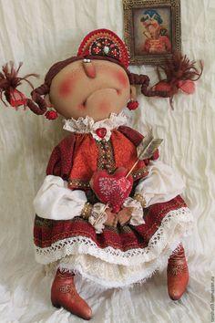 Купить Разбитое сердце... - комбинированный, текстильная кукла, ароматизированная кукла, интерьерная кукла, народный стиль